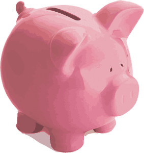 picture of a pink piggy bank