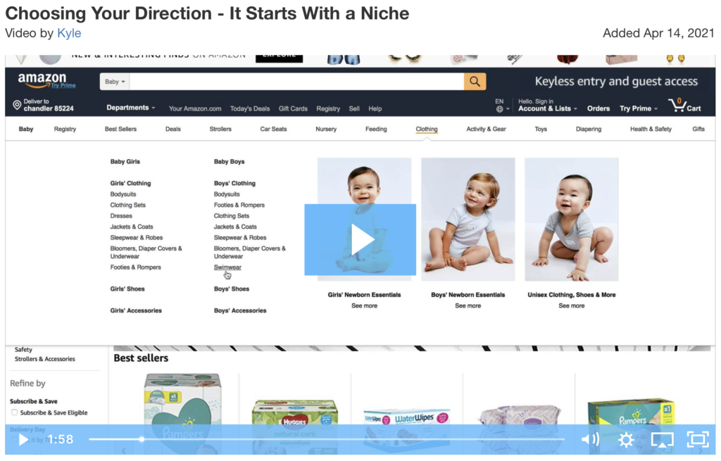 how to choose a niche video