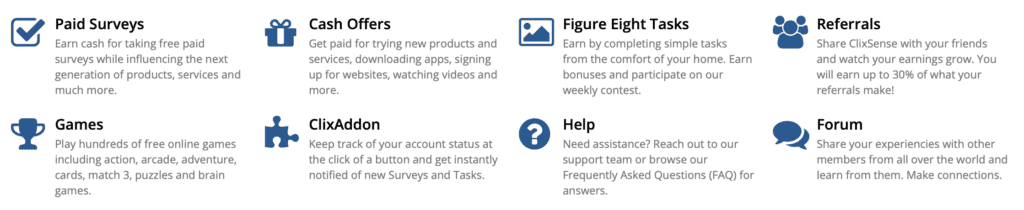 screenshot showing how to make money with Clixsense