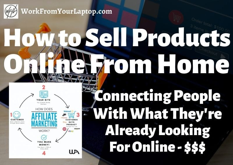 how to sell products online from home