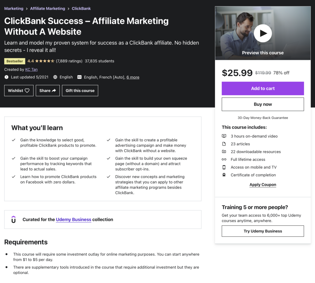 Clickbank Success - Affiliate Marketing Without a Website