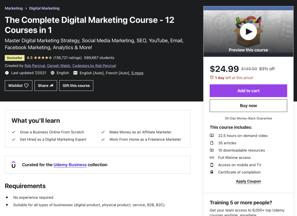 The Complete Digital Marketing Course (12 Courses in 1)