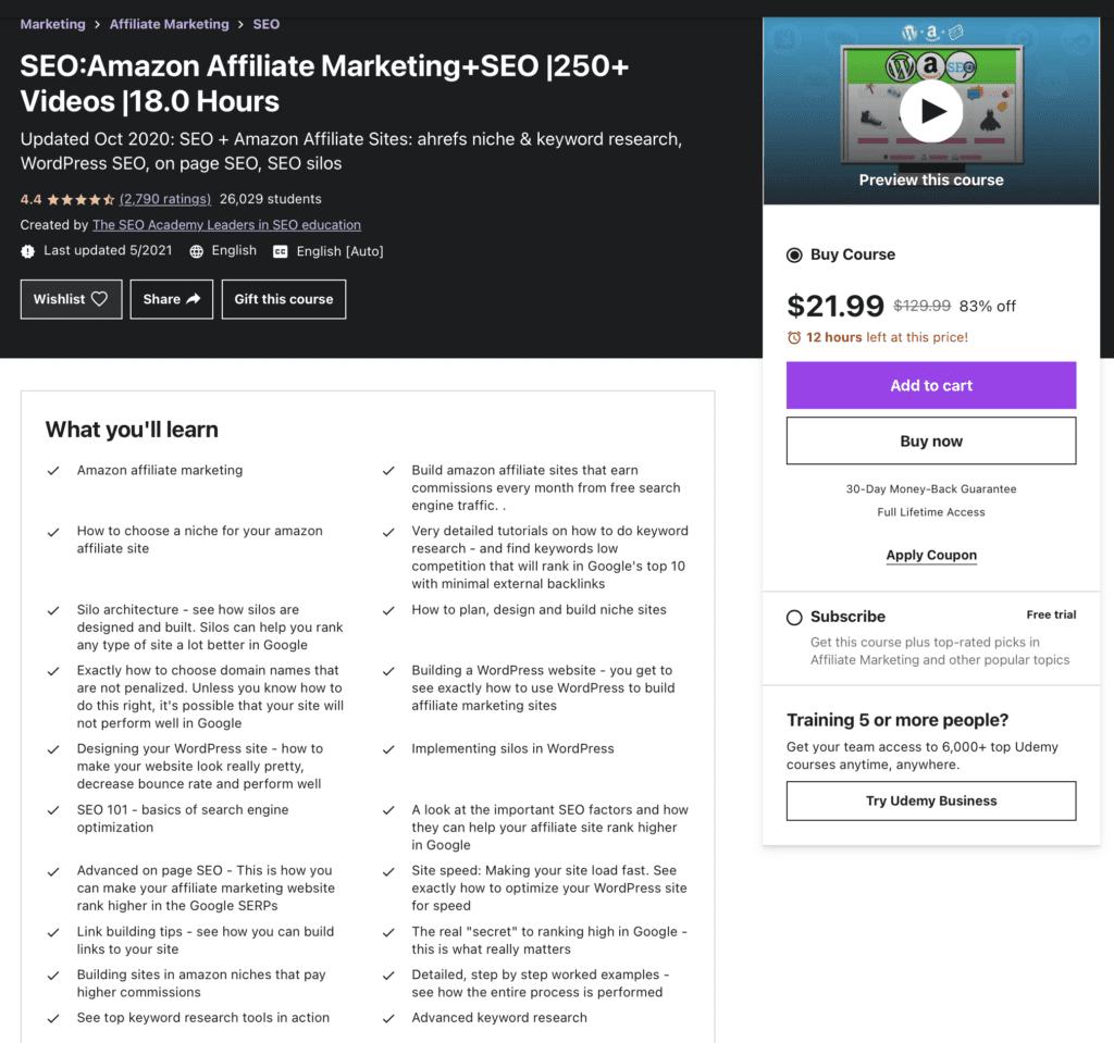 SEO: Amazon Affilaite Marketing + SEO