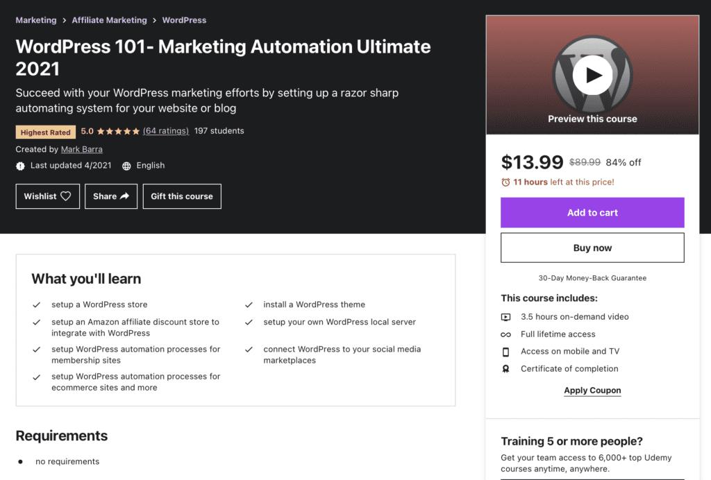 WordPress 101 - Marketing Automation Ultimate 2021