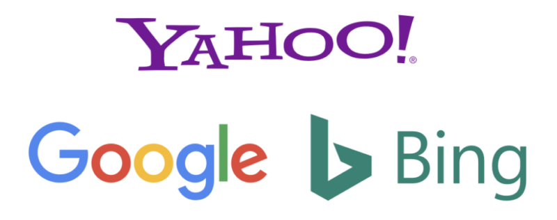 yahoo google and bing search engines
