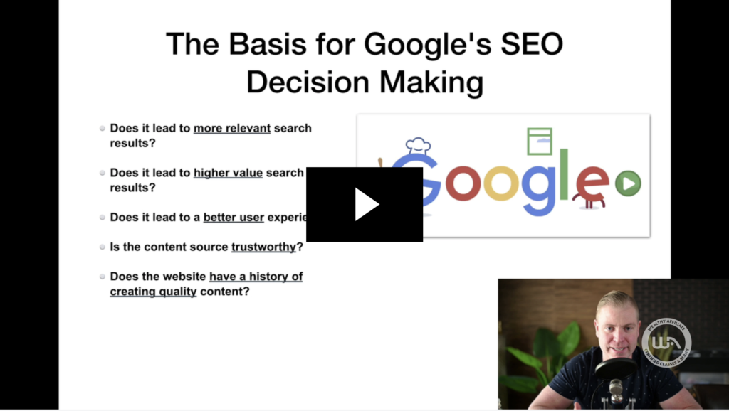 the core elements to ranking in google