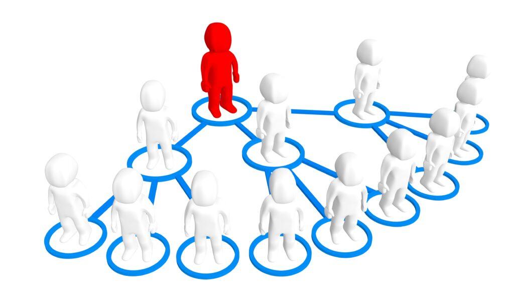 network marketing pyramid structure