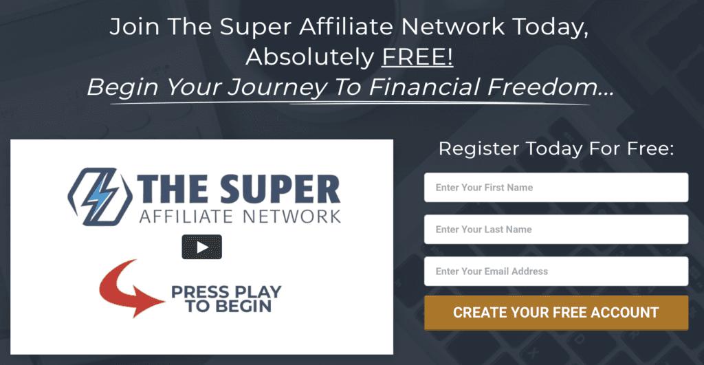 super affiliate network enrollment page